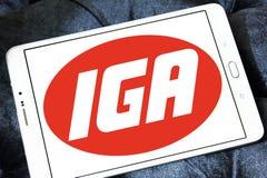 Logo de chaîne de supermarchés d'IGA Images stock