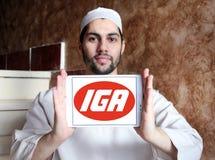 Logo de chaîne de supermarchés d'IGA Photo stock