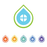 Logo de Chambre de baisse Photo libre de droits