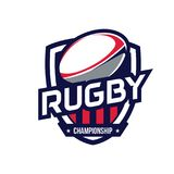 Logo de championnat de rugby Photos stock