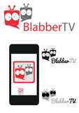 Logo de Chating TV Photographie stock