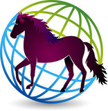 Logo de cheval du monde Photos stock
