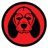 Logo de chien Photos stock