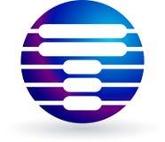 Logo de circuit Photographie stock libre de droits