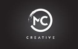 Logo de circulaire de MC avec la conception et le noir Backg de brosse de cercle illustration stock