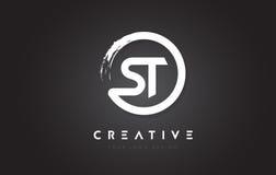 Logo de circulaire de St avec la conception et le noir Backg de brosse de cercle illustration stock