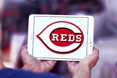 Logo de club de base-ball de Cincinnati Reds Photo stock