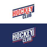 Logo de club d'hockey illustration stock