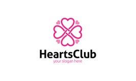 Logo de club de coeur Images stock