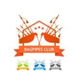 Logo de club de joueurs de pipeau Photos stock