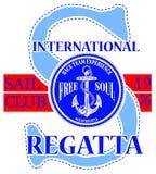 Logo de club de navigation avec l'ancre Images stock