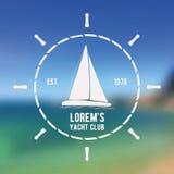 Logo de club de yacht Images stock