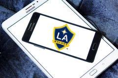 Logo de club du football de galaxie de Los Angeles images stock