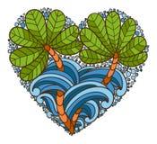 Logo de coeur illustration libre de droits