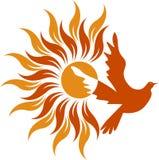Logo de colombe de pouvoir illustration de vecteur