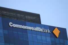 Logo de Commonwealth Bank photo stock