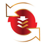 Logo de compagnie Photographie stock