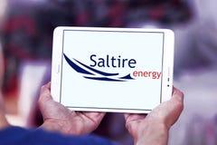 Logo de compagnie d'énergie de Saltire Photos stock