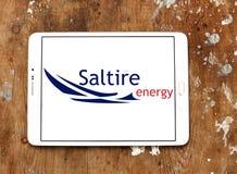 Logo de compagnie d'énergie de Saltire Photo stock