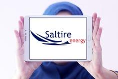 Logo de compagnie d'énergie de Saltire Photo libre de droits