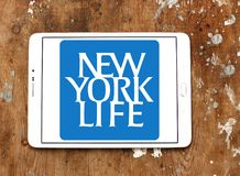 Logo de compagnie d'assurance-vie de New York Photos stock