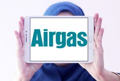 Logo de compagnie de gaz d'Airgas Photos stock