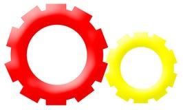 Logo de compagnie - roues commandées par engrenage de mécanisme photos stock