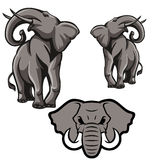 Logo de concept d'éléphant Photographie stock libre de droits
