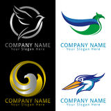 Logo de concept d'oiseau Photos stock