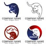 Logo de concept de chasse de Jaguar Photographie stock