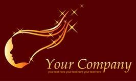 Logo de conception de cheveu Images libres de droits