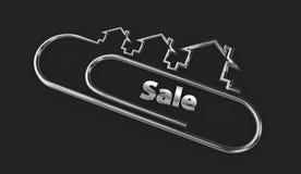 Logo de conception moderne de l'argent 3d avec l'illustration de mot de vente Image libre de droits