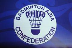 Logo de confédération de l'Asie de badminton Photo libre de droits