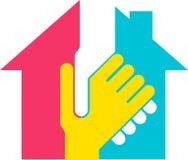 Logo de constructeur de main illustration libre de droits