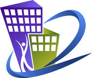 Logo de constructeurs Photo stock