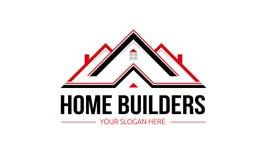 Logo de constructeurs de maisons images stock