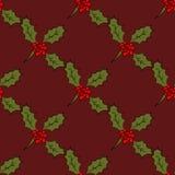 Logo de correction de Christmass, cadeau, modèle sans couture de gui illustration stock