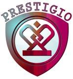 Logo de couleur de Prestigio Photographie stock libre de droits
