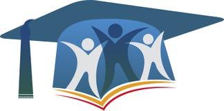 Logo de couples d'obtention du diplôme Images stock
