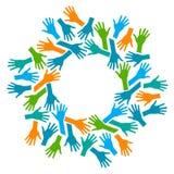 Logo de coups de main illustration libre de droits