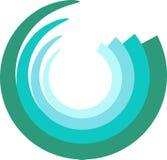 Logo de courbe Images stock