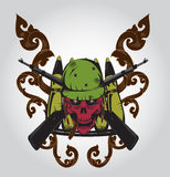 Logo de crâne illustration stock