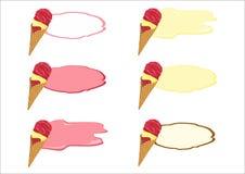 Logo de crème glacée  Photographie stock