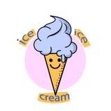 Logo de crème glacée  Photographie stock libre de droits
