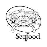 Logo de crabe Photographie stock