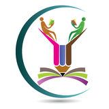 Logo de crayon d'éducation Images libres de droits