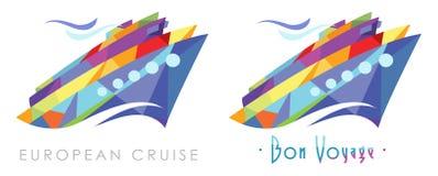 Logo de croisière de partie Photos stock