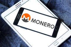 Logo de cryptocurrency de Monero Image stock