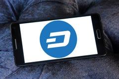 Logo de cryptocurrency de tiret Photos stock