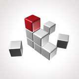 Logo de cube Photos stock